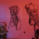 Intención de artista de una mujer elefante